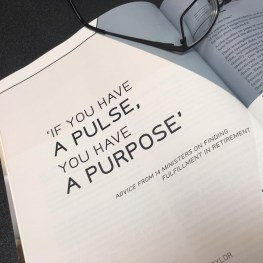 """If You Have a Pulse, You Have a Purpose"""