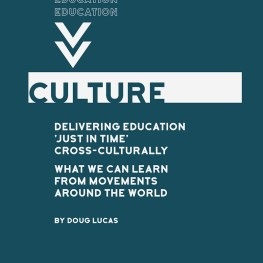 Delivering Education 'Just in Time' Cross-culturally