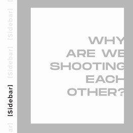 Why Are We Shooting at Each Other?
