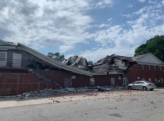 Heritage Hall Partially Collapses at MACU