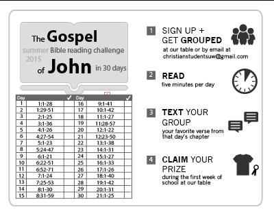 2015 Summer Bible Reading Challenge