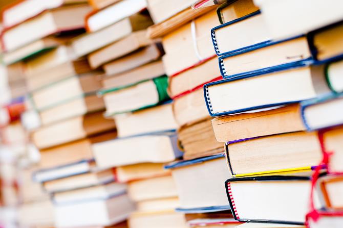 Stacks of reading books
