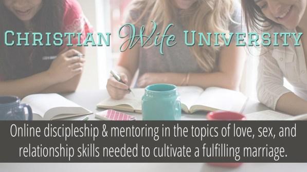 Christian Wife University Private Mentoring Program