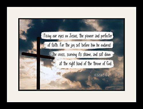 Hebrews 12:2 Fixing our eyes on Jesus - Christian Poster, Print, Pictu