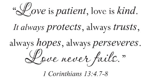 love is patient is kind
