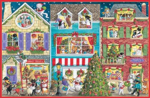 Caspari Village With Animals Christmas Cards Box Of 16