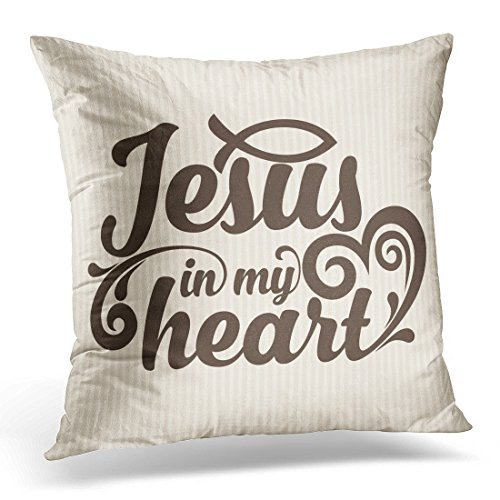 Breezat Throw Pillow Cover God Bible Lettering Christian Jesus In My H Impressive Decorative Pillows With Quotes