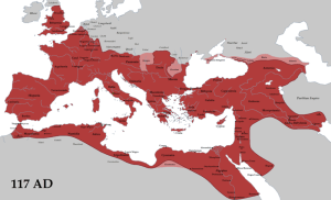 Roman Empire at its height in 117 AD (source: wikipedia.org)