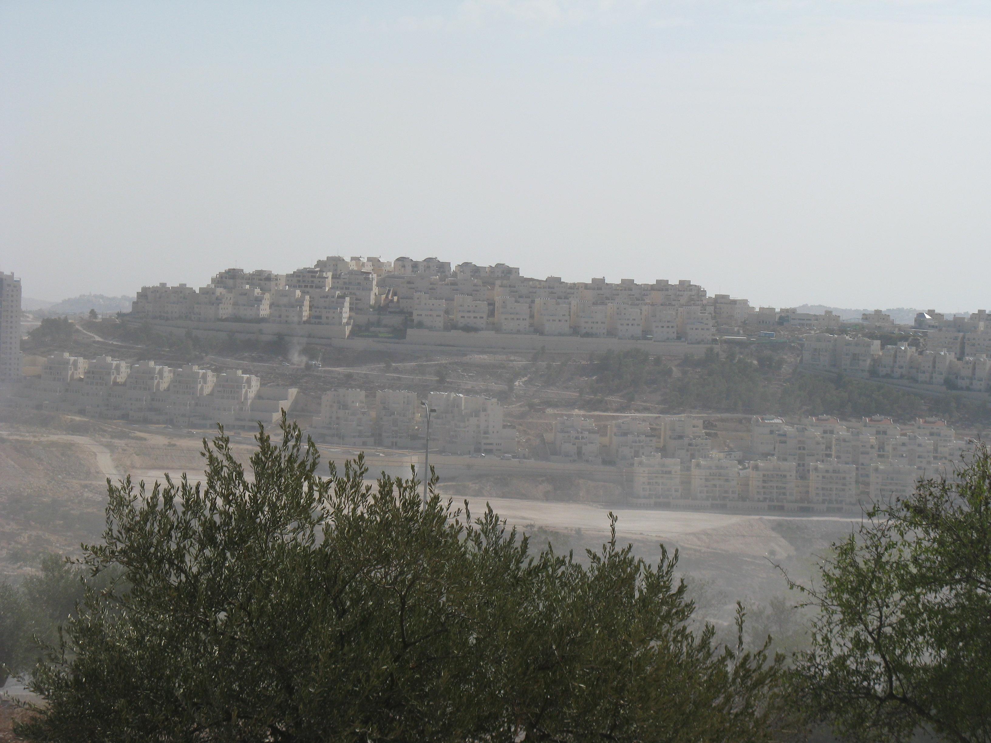 Part of Har Homa, seen from Tantur