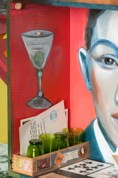 Photo of original painted mixed media work Your Bartender #7 by Christie Mellor
