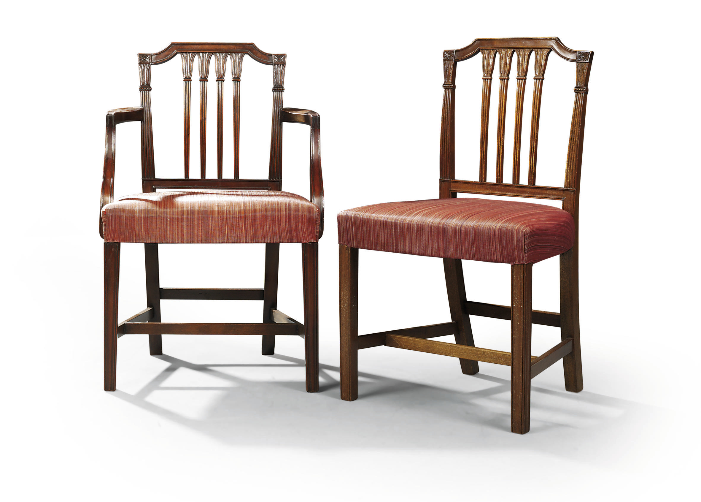 Five Chairs A Set Of Twelve Mahogany Dining Chairs Seven Chairs
