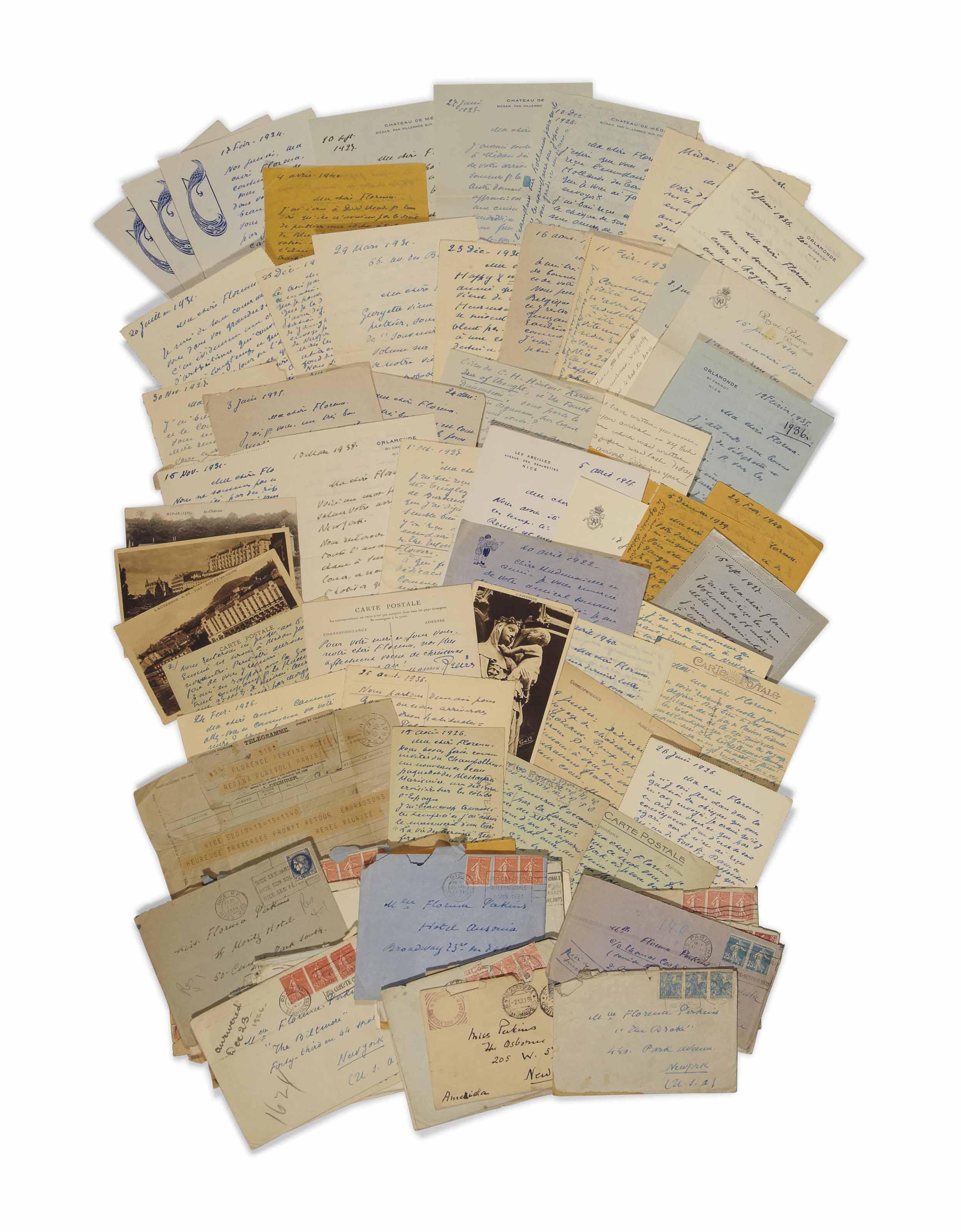 Passe A Florence 4 Lettres : passe, florence, lettres, Maurice, MAETERLINCK, (1862-1949).140, Lettres, Autographes, Signées, Maeterlinck, Datées, Plupart,, Adressées