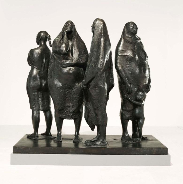 Grupo De Cuatro Mujeres De Pie By Francisco Zúñiga
