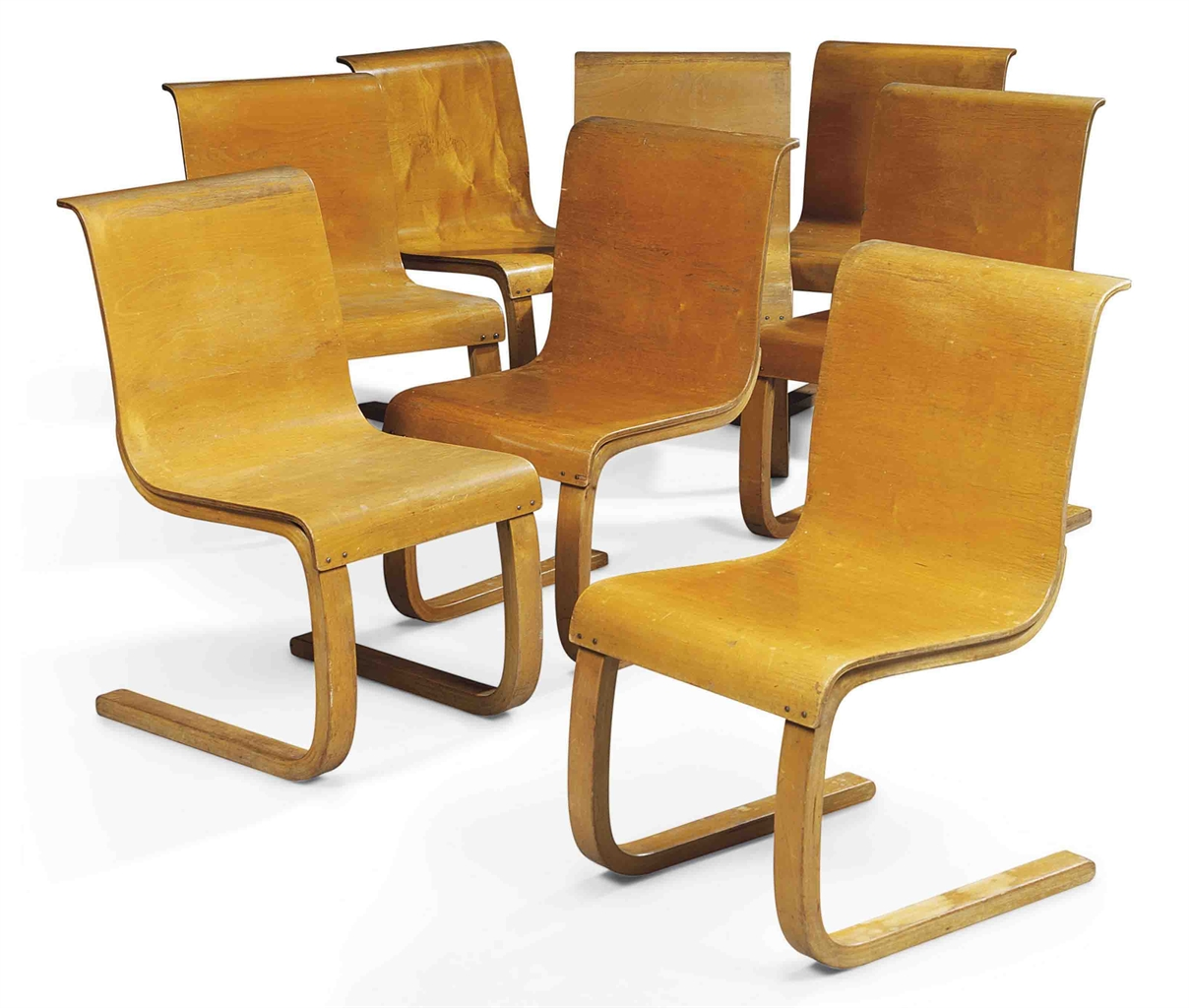 Aalto Chair Alvar Aalto 1898 1976 Set Of Eight Model 21 Cantilever