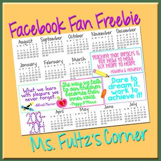 Fults Academic Calendar Freebie