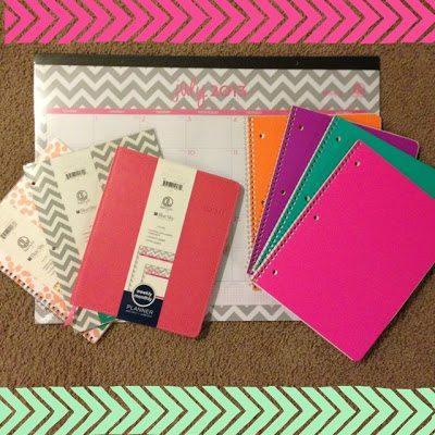 chevron calendar, chevron planner, neon notebooks