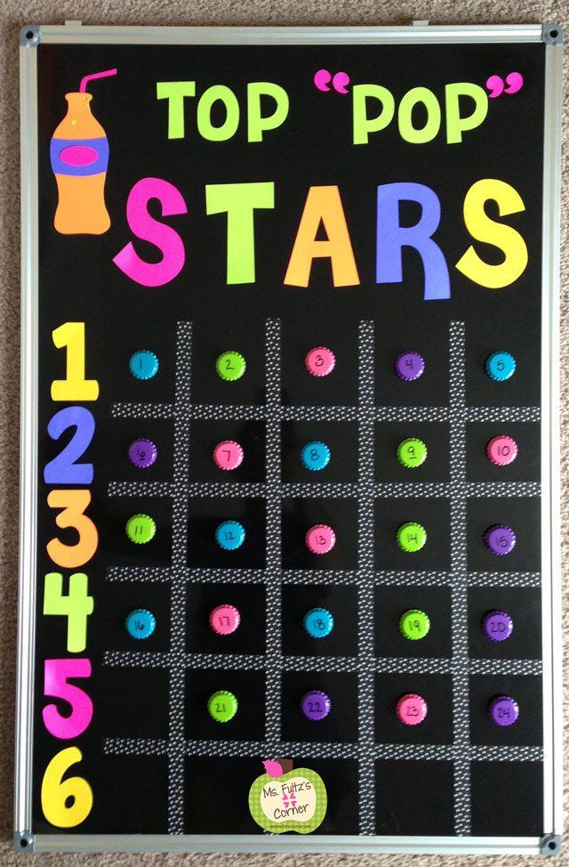 top pop star student motivation award board