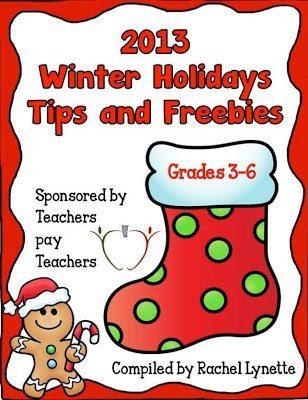 http://www.teacherspayteachers.com/Product/2013-Winter-Holidays-Tips-and-Freebies-Grades-3-6-Edition-1008289