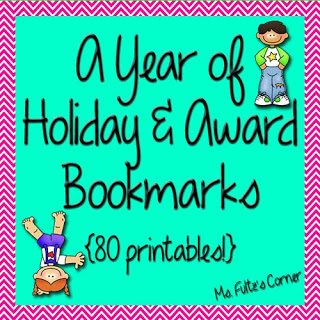 http://www.teacherspayteachers.com/Product/Holiday-and-Award-Bookmarks-for-the-Entire-Year-740944