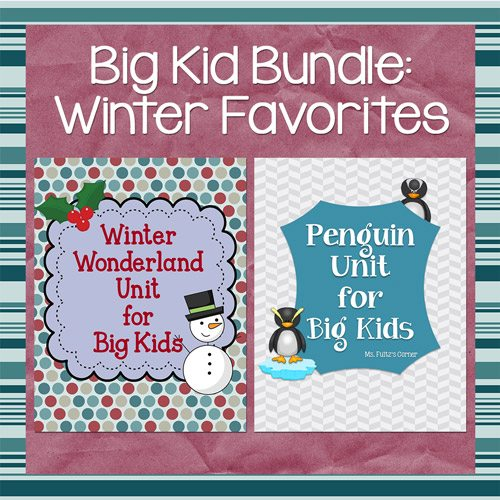 http://www.teacherspayteachers.com/Product/Winter-BUNDLE-for-Big-Kids-1311280