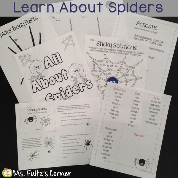 http://www.teacherspayteachers.com/Product/Spider-Unit-for-Big-Kids-359981