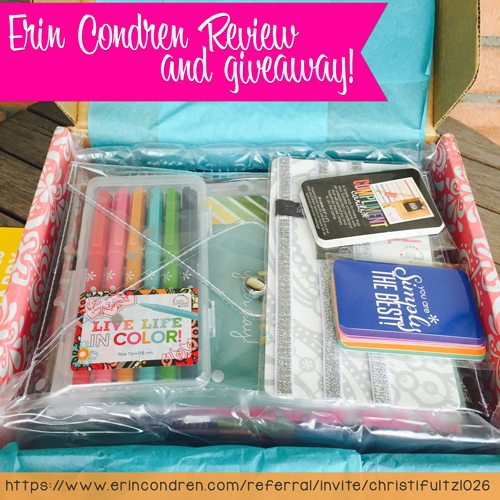 Erin Condren Life Planner Review and Giveaway