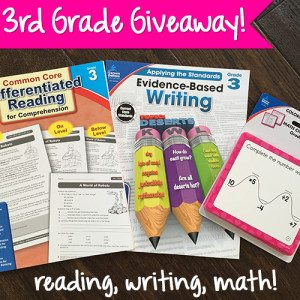 Third Grade Giveaway Pack for reading, writing, and math