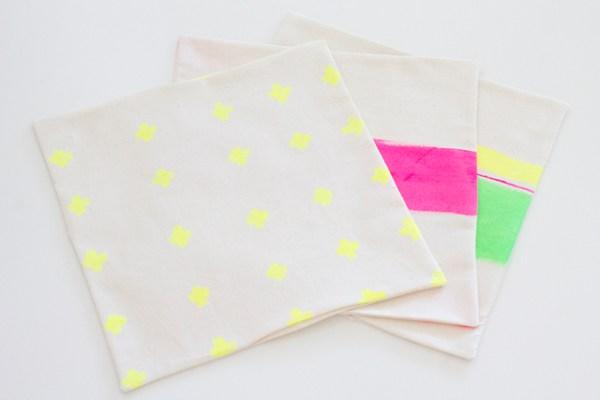 Stoffservietten bamalt genäht und gewendet klein