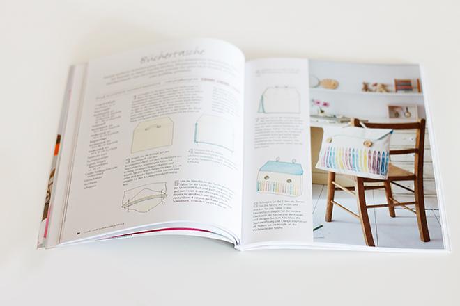 Buch Taschen bedrucken und nähen von Jenny McCabe - Tutorial / Anleitung Turnbeutel nähen und bedrucken
