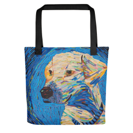 Van Gogh Dog – All Over Tote