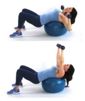 Overhead Press exercise done by Christina Carlyle