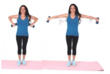Dumbbell Tricep Extension Exercise done by Christina Carlyle