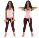 Upright Row Arm Exercise being done by trainer Christina Carlyle