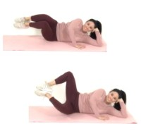 Clam thin thigh exercise being done by trainer Christina Carlyle