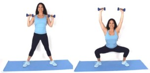 Plie Press Home exercise being done by Christina Carlyle