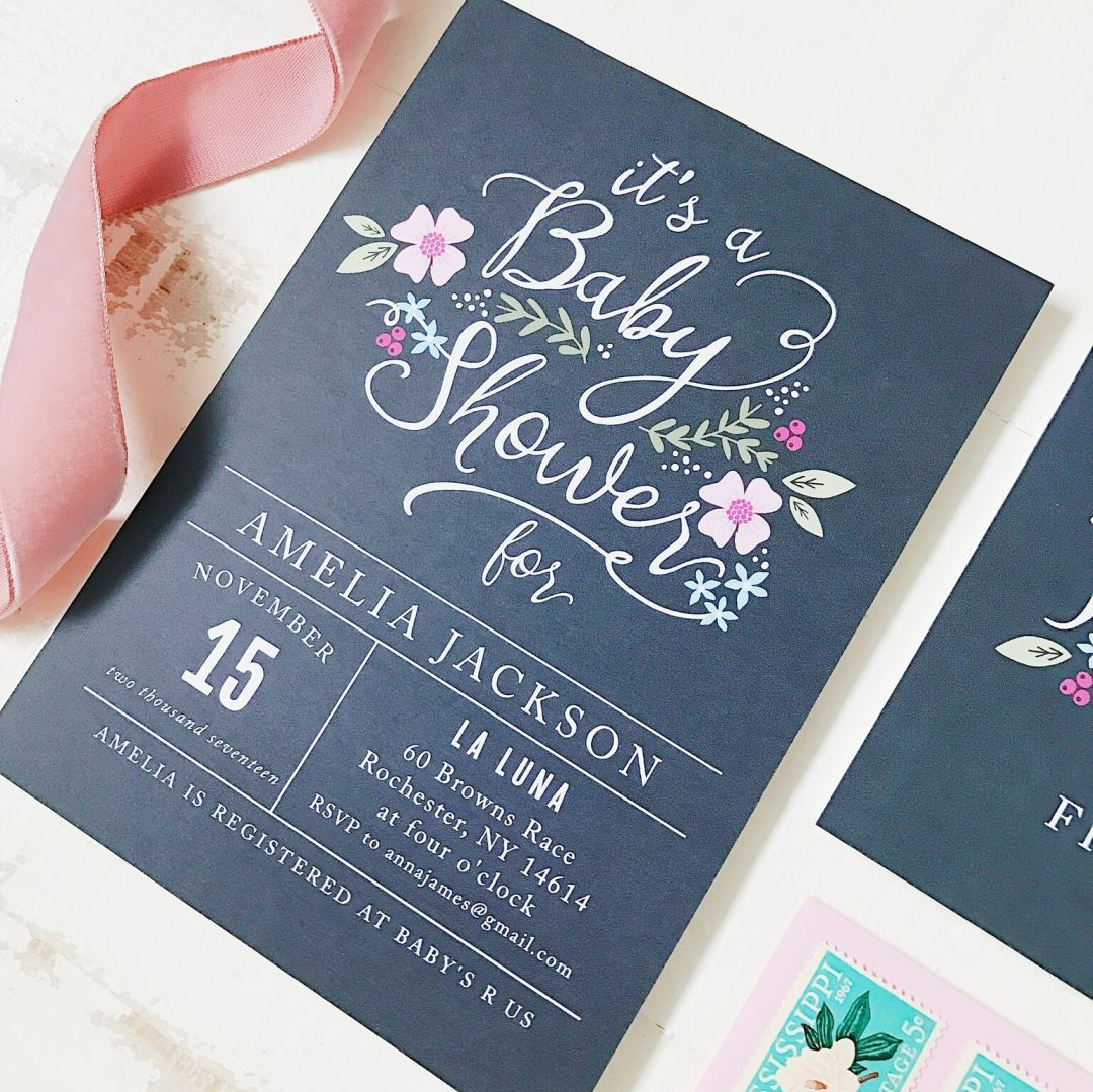 Over the Moon Baby Shower Invitations