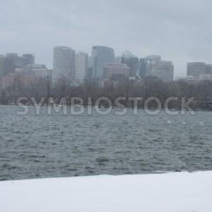 Arlington from Watergate Steps DC Winter Snow (1).JPG - Christina Chee