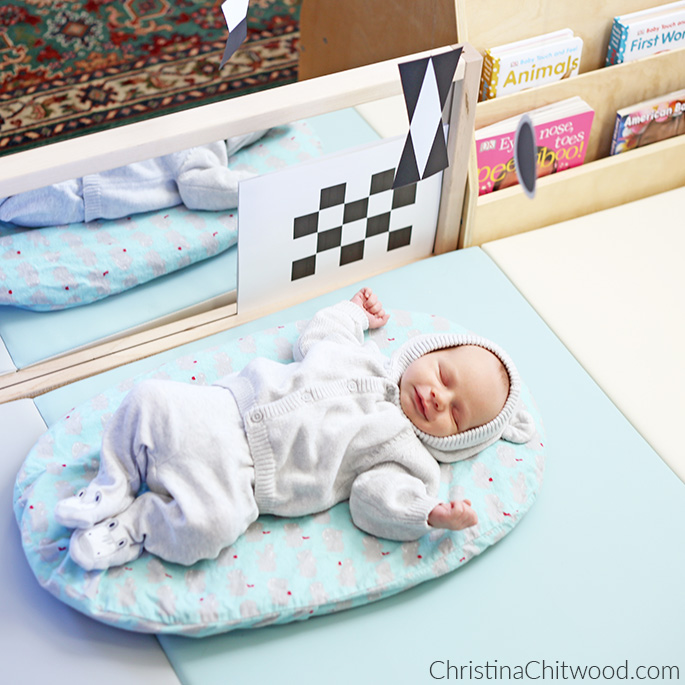 We Love the Montessori Newborn Baby Space in Our Living Room