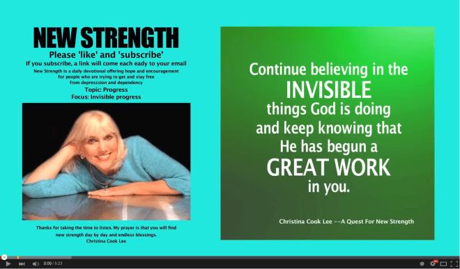 New Strength, June 29