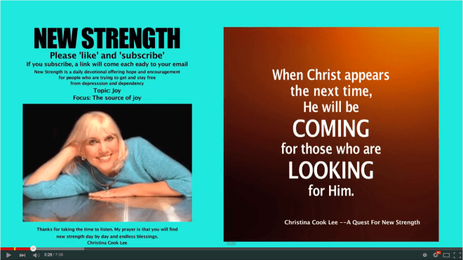 When Christ appears the next time, He will be coming for those who are looking for Him. --Christina Cook Lee, A Quest For New Strength