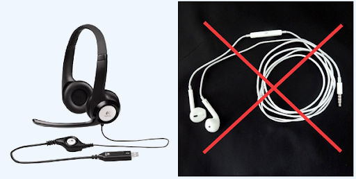 headset / microphone does and don'ts