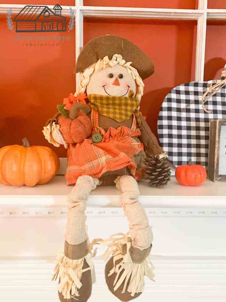 $5.00 Scarecrow from General Dollar Store.