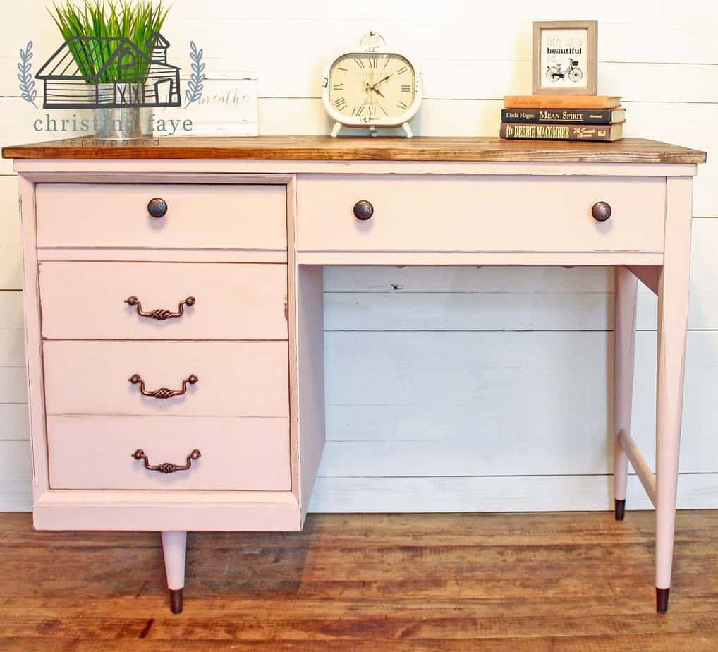 Repurposed Sewing Machine Table After makeover