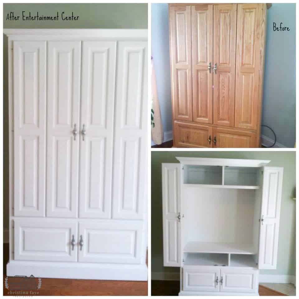 Brown Armoire Painted White