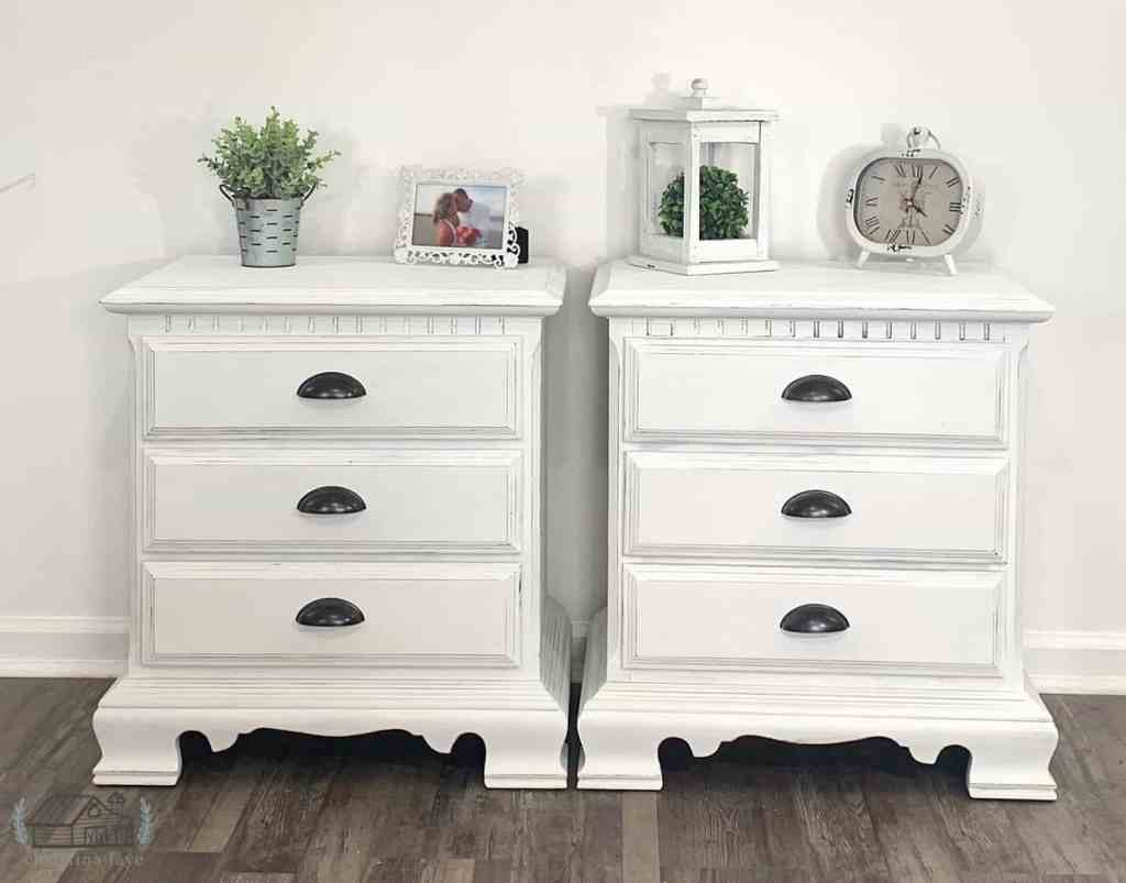 Set of Nightstands Painted Dixie Belle Cotton