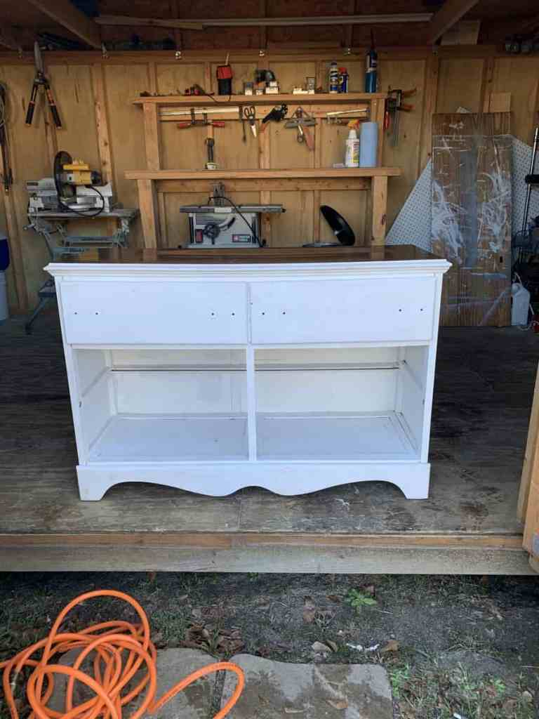 White Dresser Missing Bottom Drawers