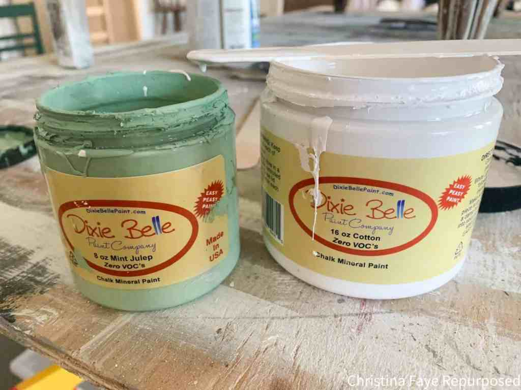 Mixing Dixie Belle Mint Julep and Cotton