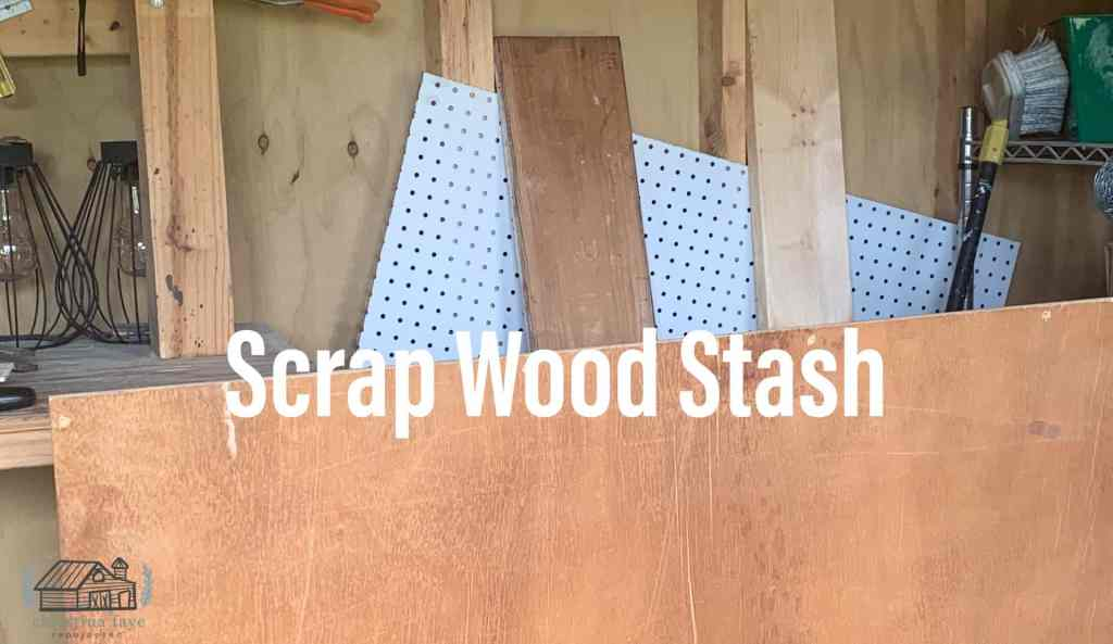 Scrap wood pieces