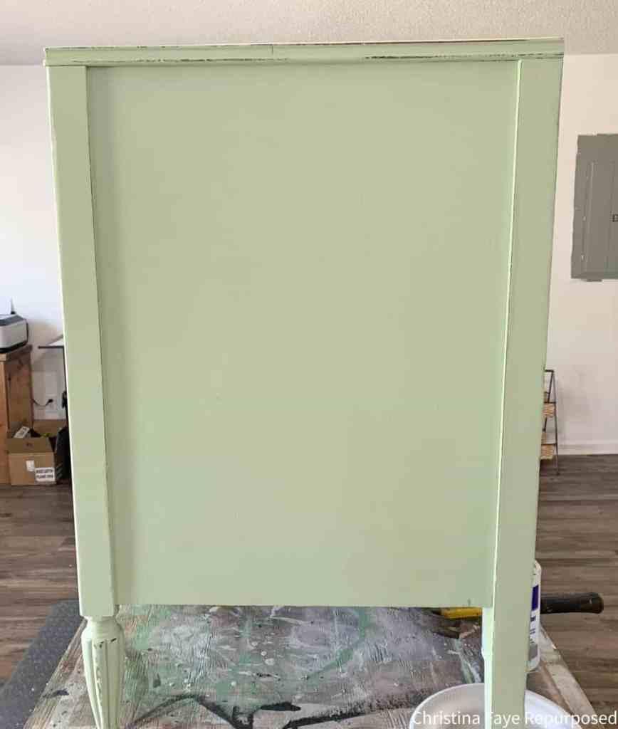 Distressed vintage dresser