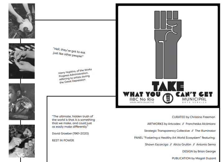 Take What You Can't Get exhibition zine